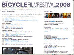 Web-Site Bicycle Film Festival